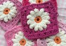 Pattern Daisy Granny Square Crochet